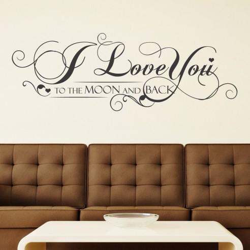 Sticker I Love You Quote - Grey Vine