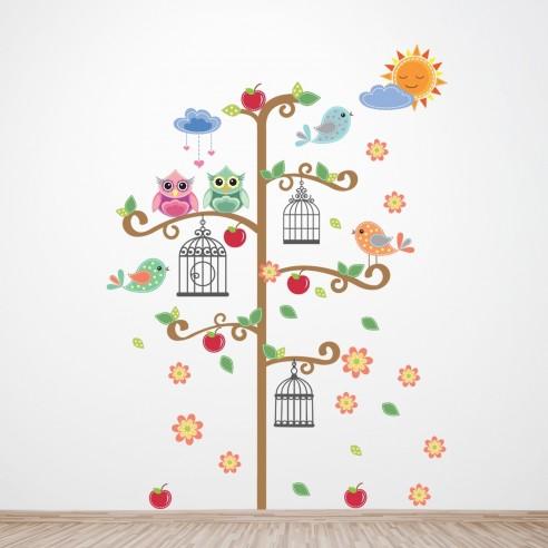 Sticker Birdcage Tree