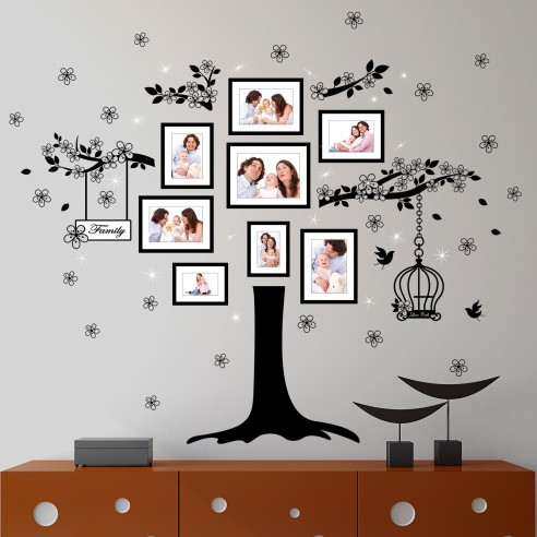 Sticker Family Photo Tree and 20...