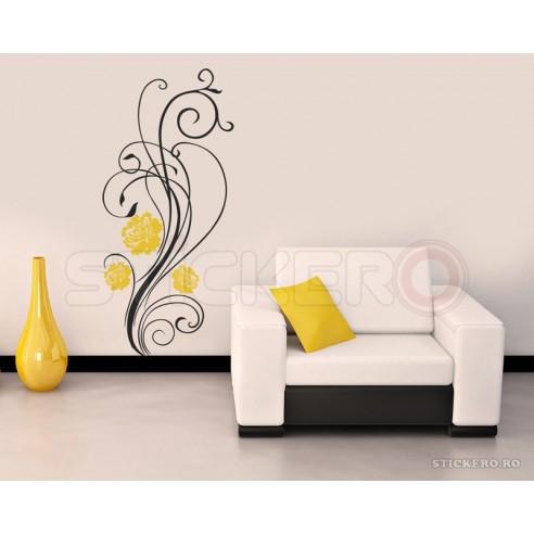 Sticker decorativ Floare Delicata