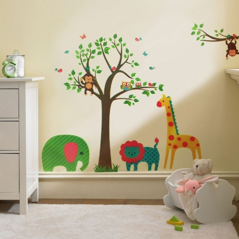 Sticker Animal Tree