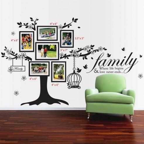 Sticker Family Photo Tree - Birdcage...