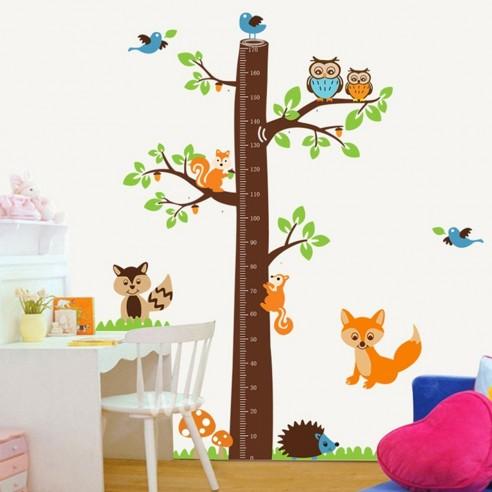 Sticker Fox Tree Height Measure