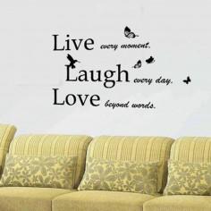 Sticker Classic Live Laugh...