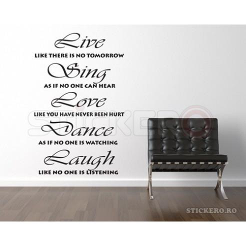 Live Sing Love Dance Laugh