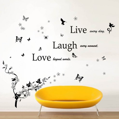 Classic Live Laugh Love and Butterfly...