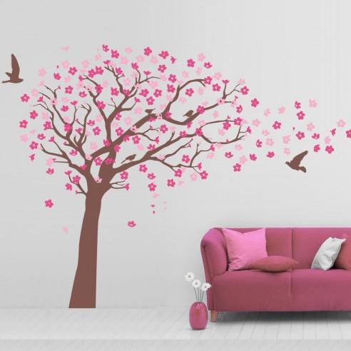 Sticker de perete Copac inflorit cu...