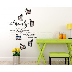 Family - sticker decorativ...