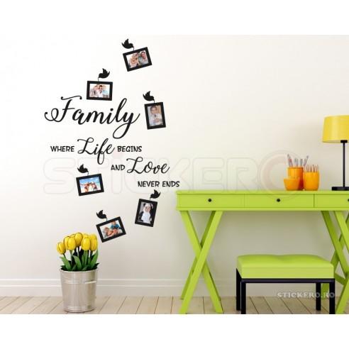 Family - sticker decorativ cu mesaj...