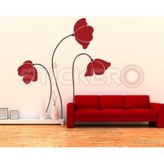 Sticker de perete Flori de Mac