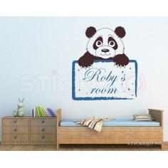 Ursuletul panda cu mesaj