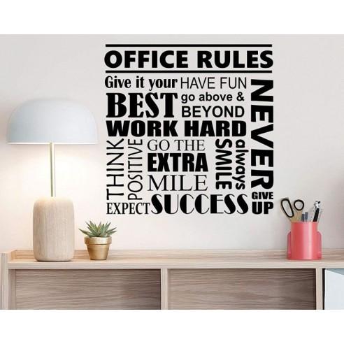 Sticker de perete pentru birou -...