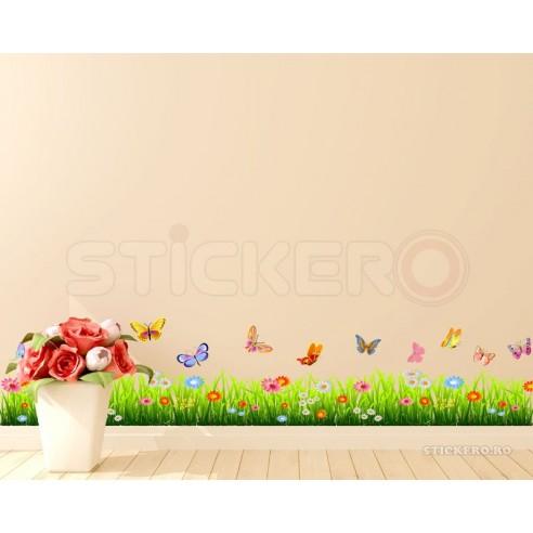 Sticker de perete - Iarba, floricele...