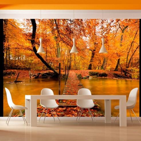 Fototapet  Autumn bridge