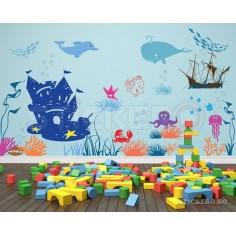 Sticker perete lumea marina