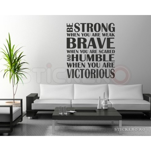 Strong Brave Humble