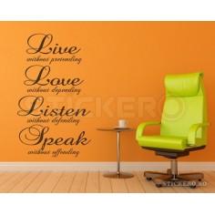 Live Love Listen Speak