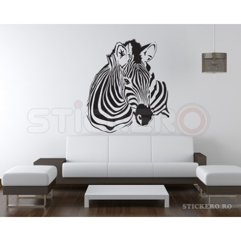 Sticker decorativ Cap de Zebra