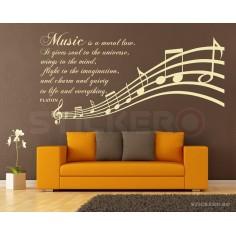 Despre muzica - sticker mesaj