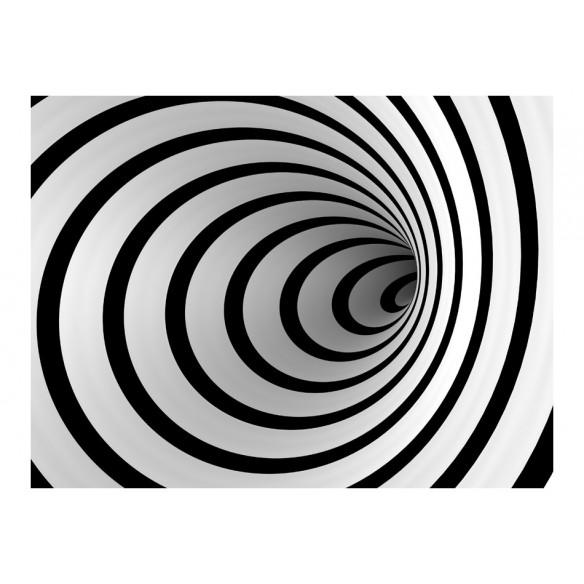 Fototapet  Black and white 3D tunnel