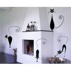 Sticker decorativ Pisicute