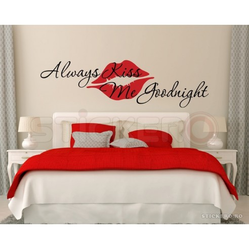 Always kiss me goodnight - sticker mesaj