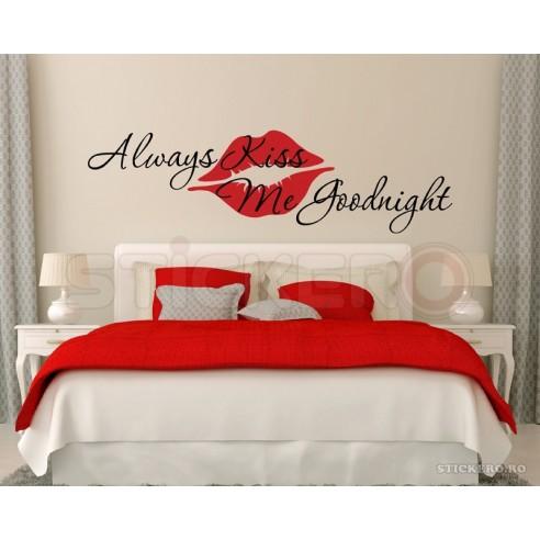 Always kiss me goodnight - sticker mesaj
