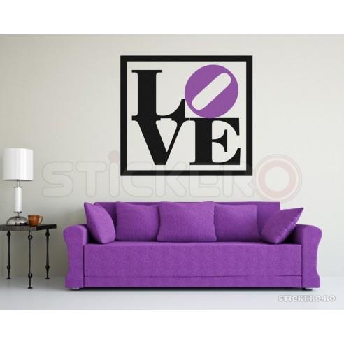 LOVE - sticker de perete