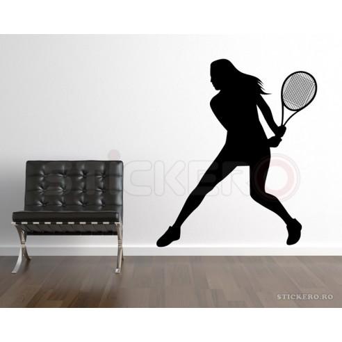Sticker decorativ Jucatoare de tenis