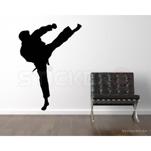Sticker decorativ Silueta arte martiale