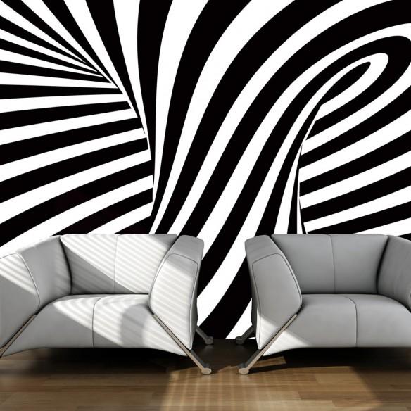 Fototapet  optical art black and white