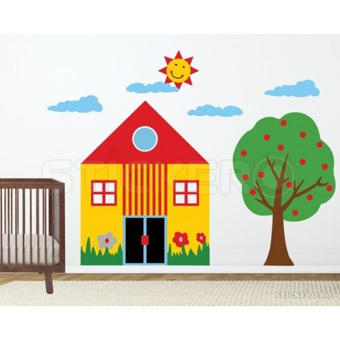 Sticker pentru copii - casa cu copac