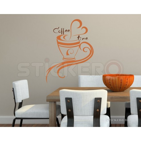 Coffee time - sticker decorativ