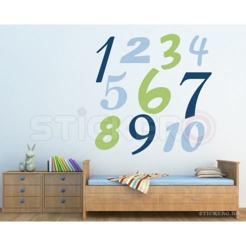 Sticker educativ cu cifre