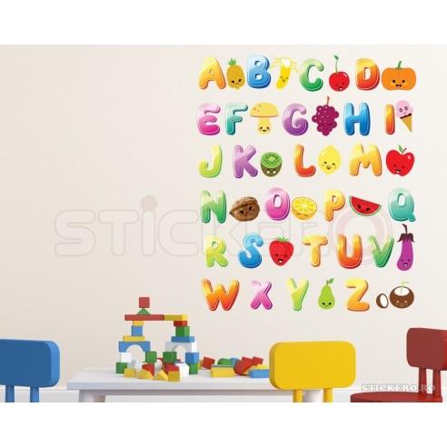 Alfabet color cu ilustratii - sticker...