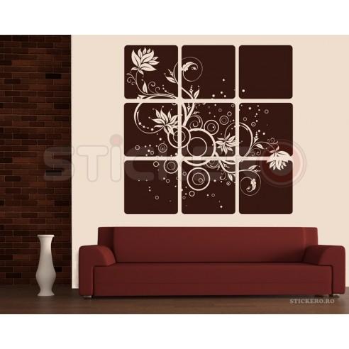 Sticker decorativ Flori gemene -...