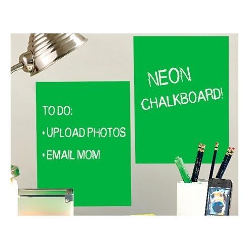 Sticker tabla de scris Neon Green