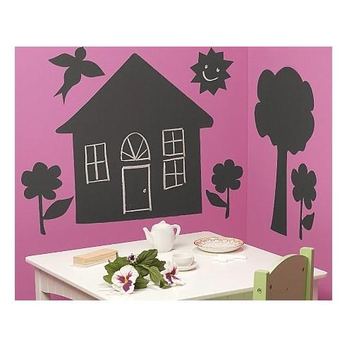 Sticker tabla de scris House & Trees