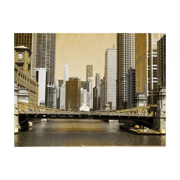Fototapet  Chicagos bridge (vintage effect)