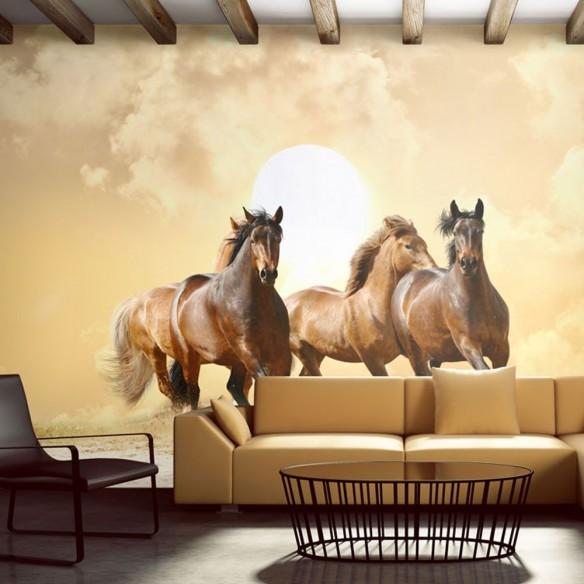 Fototapet  Running horses