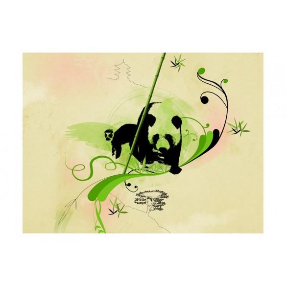 Fototapet  Giant panda in bamboo forest
