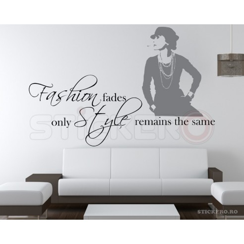 Fashion fades - sticker decorativ mesaj