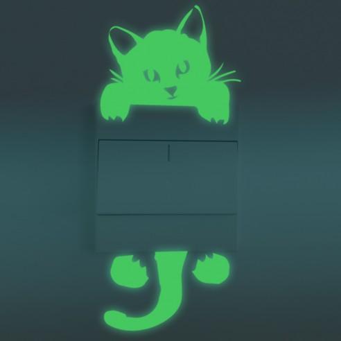 Pisicuta pentru intrerupator-sticker...