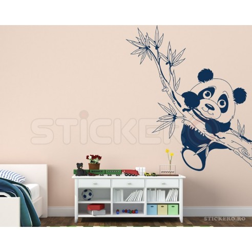 Panda pe creanga - sticker perete copii