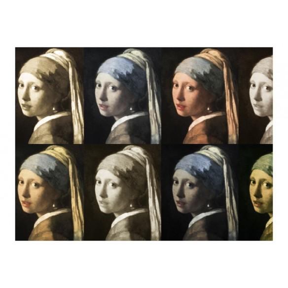 Fototapet  Girl with a pearl earring (Pop art)