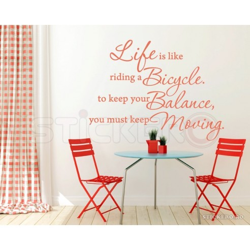 Life like a bicycle - sticker...